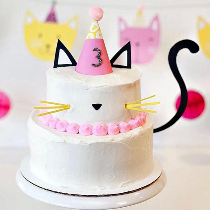Bánh sinh nhật con mèo, bánh kem mặt mèo đẹp dễ thương