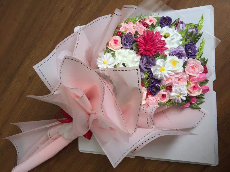 Bánh kem bó hoa mã 659