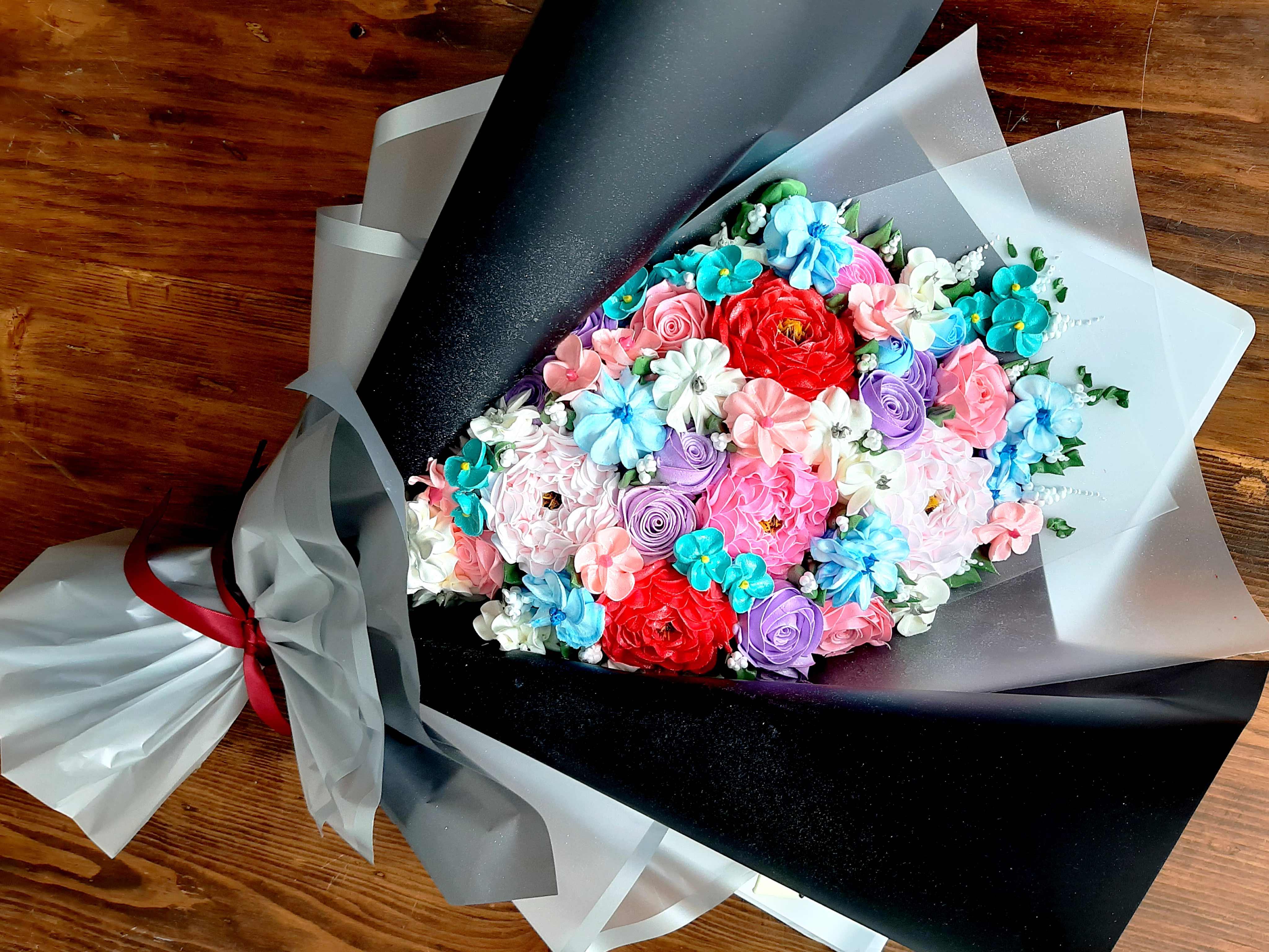 Bánh kem bó hoa mã 887