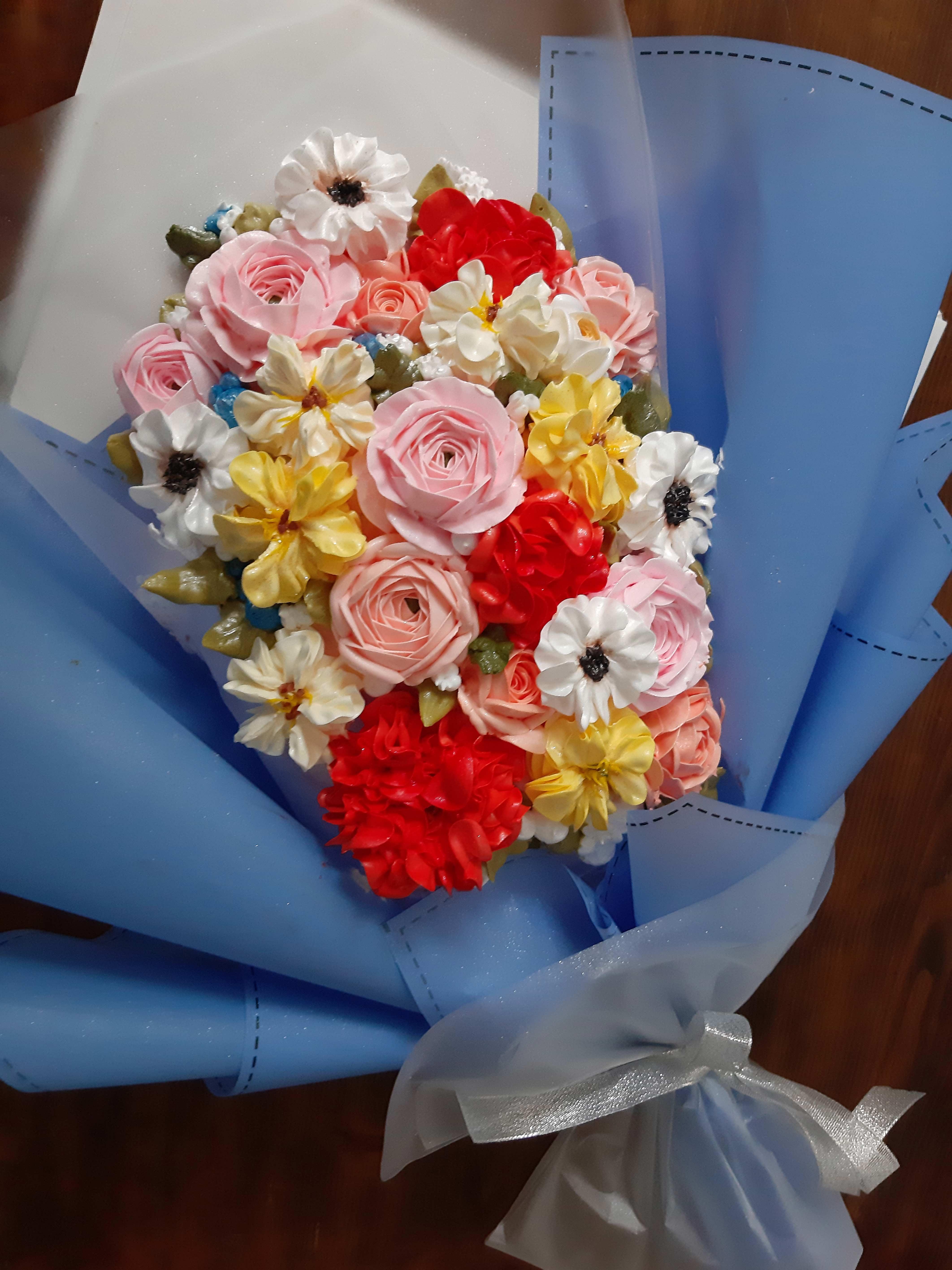 Bánh kem bó hoa mã 883