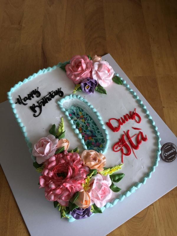 Bánh số cốt bánh chocolate cake