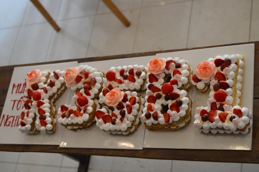 Bánh số cốt chocolate cakes