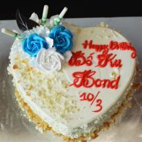 Bánh kem bắp ngọt thanh không ngán, bánh tươi - mã KB0006