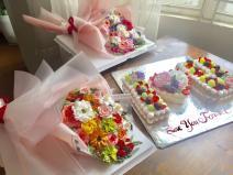 Bánh kem bó hoa mã 654