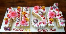 Bánh kem số chữ MISA
