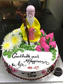 Mừng tuổi Ông Bà Cha Mẹ-Ông Thọ với hoa